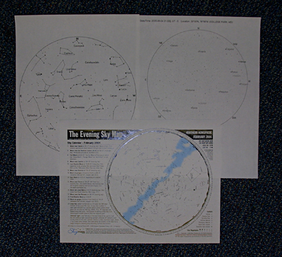 photo of three maps obtained online