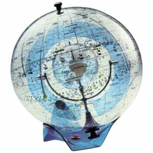 image of celestial globe that can be used in a classroom