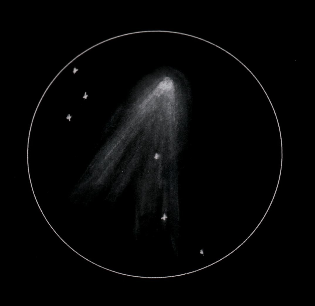 comet drawing by Paul Medcraft